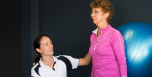 dementia health allied health care woman and trainer