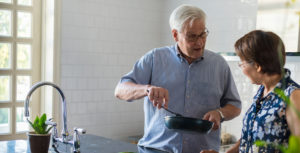 dementia care at home guide man cooking