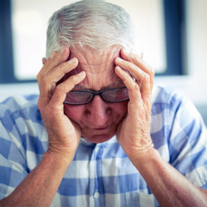 course pain puzzle senior man suffering from headache