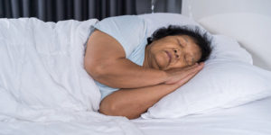dementia and sleep - woman sleeping