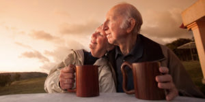 sexualities and dementia couple drinking tea