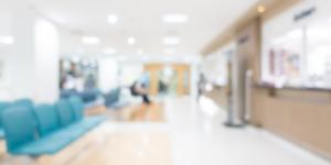 Improving-environments blurry hospital waiting room
