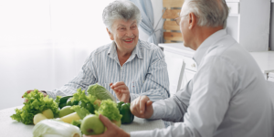 advancing-practice-banner elderly couple with fruit and vegetables