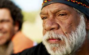 Wurundjeri Elder with Smiling Man in Background, 2016, Gary Radler