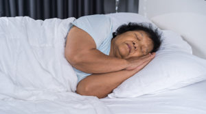 m3 feature woman sleep in bed dementia sleep